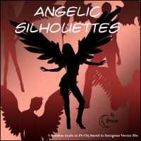 Angelic Solhouettes Brushes by Coby17