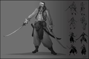 Pirate Capatain Kyrylo Shadrova by GuthrieArtwork