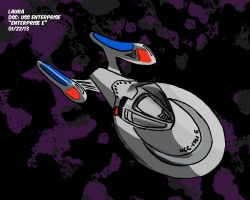 Daily Sketch Challenge: USS Enterprise by subatomiclaura