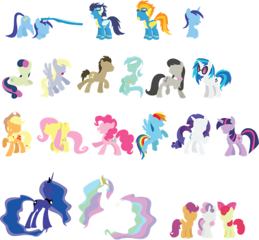 MLP Rainmeter Icons - Preview by SundownGlisten