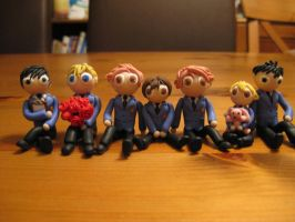 Ouran Host club - Clay chibis by BurnsideChar