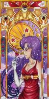 Sailor Mars Mucha style by Carcondis