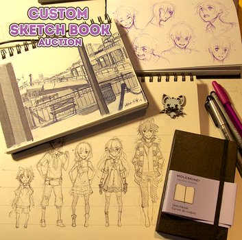 Custom Sketchbook Auction [LAST HOUR!] by whispwill