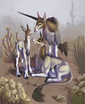 Desert Unicorn by akvz