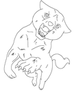 MS paint GINGA LINEART by night-mother