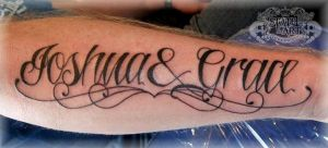 Name on forearm by state-of-art-tattoo