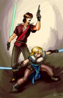 Tag-team Jedi by Transbot9