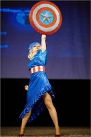 Another Captain America inspired dress 01 by AcidDaisy