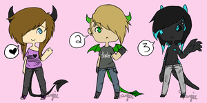 Simple Demon Adopts 2 (Offer) by Fang-Chan13