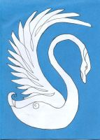Swan Birthday Card by Leeuwtje