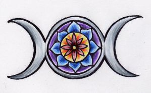 Wiccan Rose design colored by lilmoongodess