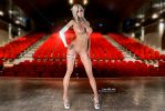 Sexy Tara has small tits and is on Stage! by affect3d-com