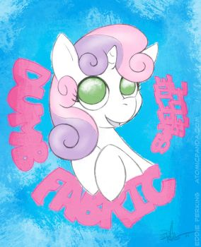 Sweetie Belle Dumb Fabric by EddiePerkins