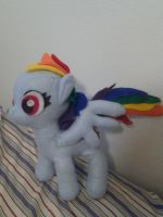 Rainbow Dash Plush from Metrocon 2012 by chaoticlatina