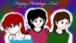 Happy Holidays, Kiddles by FuryKat