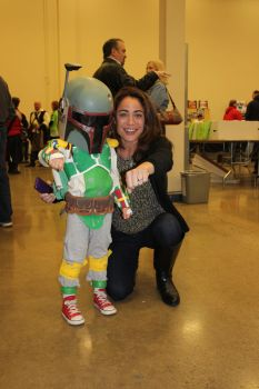 Baby Fett and Witchblade by jlonnett