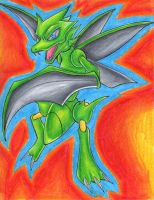 Scyther by Kary--Chan