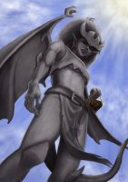 Gargoyles - Demona (Stone) by clockworkconfusion
