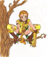 Posing in a Tree by PjBottoms