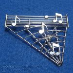 Music Spider Brooch by harlewood