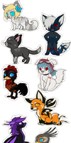 Chibies, chibies everywhere! by Bluefirewings