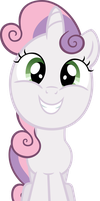 Sweetie Belle grin by MoongazePonies