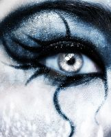 Deathrock make-up V by DarkAsteria
