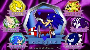 Sonic and His Past Forms by StrobelightMaster