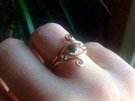 Red Tiger Eye Ring in 14k Yellow Gold Fill by whippetgirl