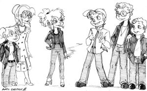 Grease Chipmunks and Chipettes by DoodleScout