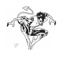 Nightcrawler inks by JosephLSilver