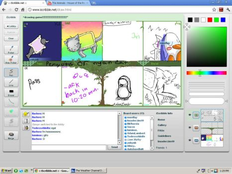 Nyan Cat iscribble version by Invaderzim19