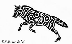 Born free - Wolf tribal by Nikki-vdp
