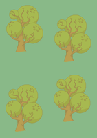 Trees Background test 02 by Trapiki