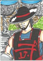 Kung Lao sketch card by kylemulsow