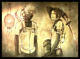 +Anbu: kakashi and Itachi+ by moni158