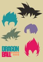 DB Hair styles poster by CarabARTS
