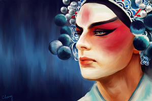Chinese Opera Warrior!Arthur by AlexandarCho