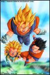 Dragon ball - Sayan's Power - by diabolumberto