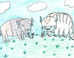 Bisons and Lemurs by DanielLaux429