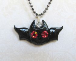 Bat Necklace by DragonsAndBeasties