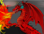 Red Dragon (oldie) by Celtic-Tigeress