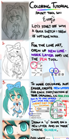 Coloring Tutorial Hatsune Miku by The-Yello-Mello