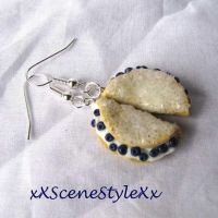 Blueberry Crepe Earrings by xXSceneStyleXx