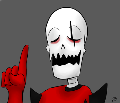 Underfell Papyrus Colored by morbrid