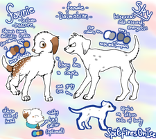 Faunie and Sky reference sheet by SpitfiresOnIce