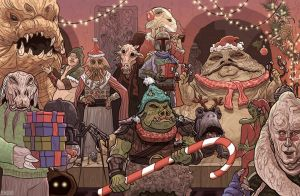 Jabba the Hutt Christmas Card Star Wars by McQuade