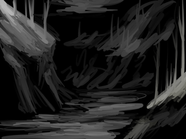Blackandwhitelandscapething by BREAD-the-PIRATE