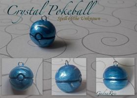 Crystal Pokeball Charm by GandaKris