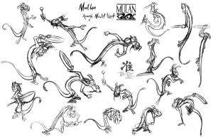 Mushu _poses model sheet by tombancroft